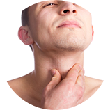 throat button Deep belly nose in